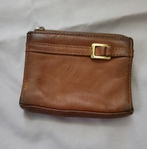 Vintage Brown Leather Change Purse